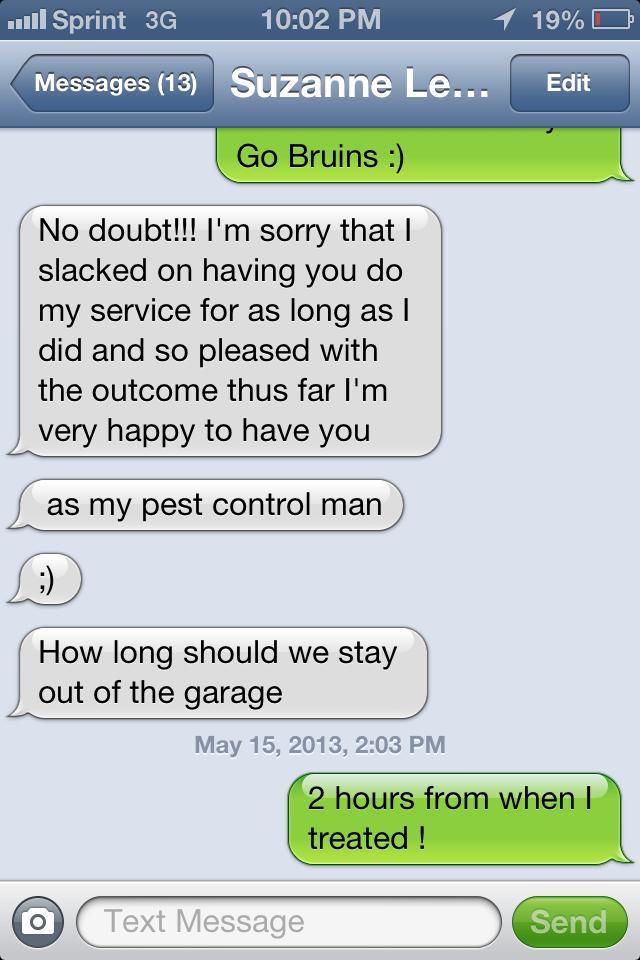 Pest Control customer